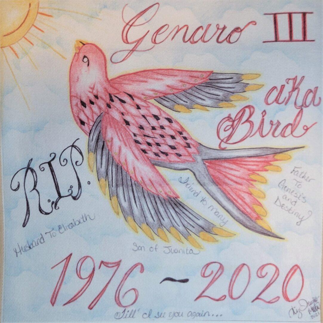 IN MEMORY OF GENARO III - 1976 - 2020