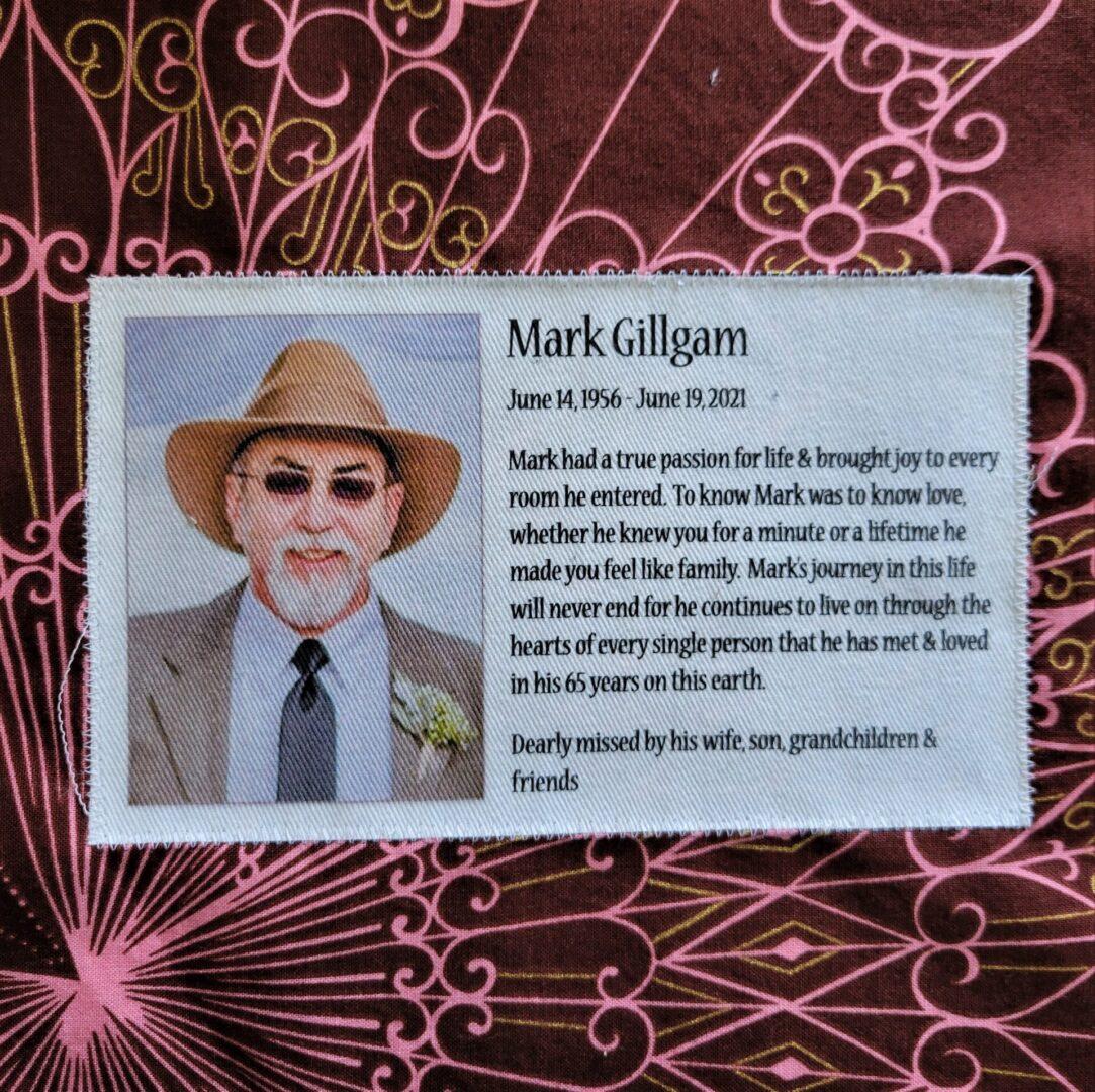 IN MEMORY OF MARK GILLGAM - JUNE 14, 1956 - JUNE 19, 2021