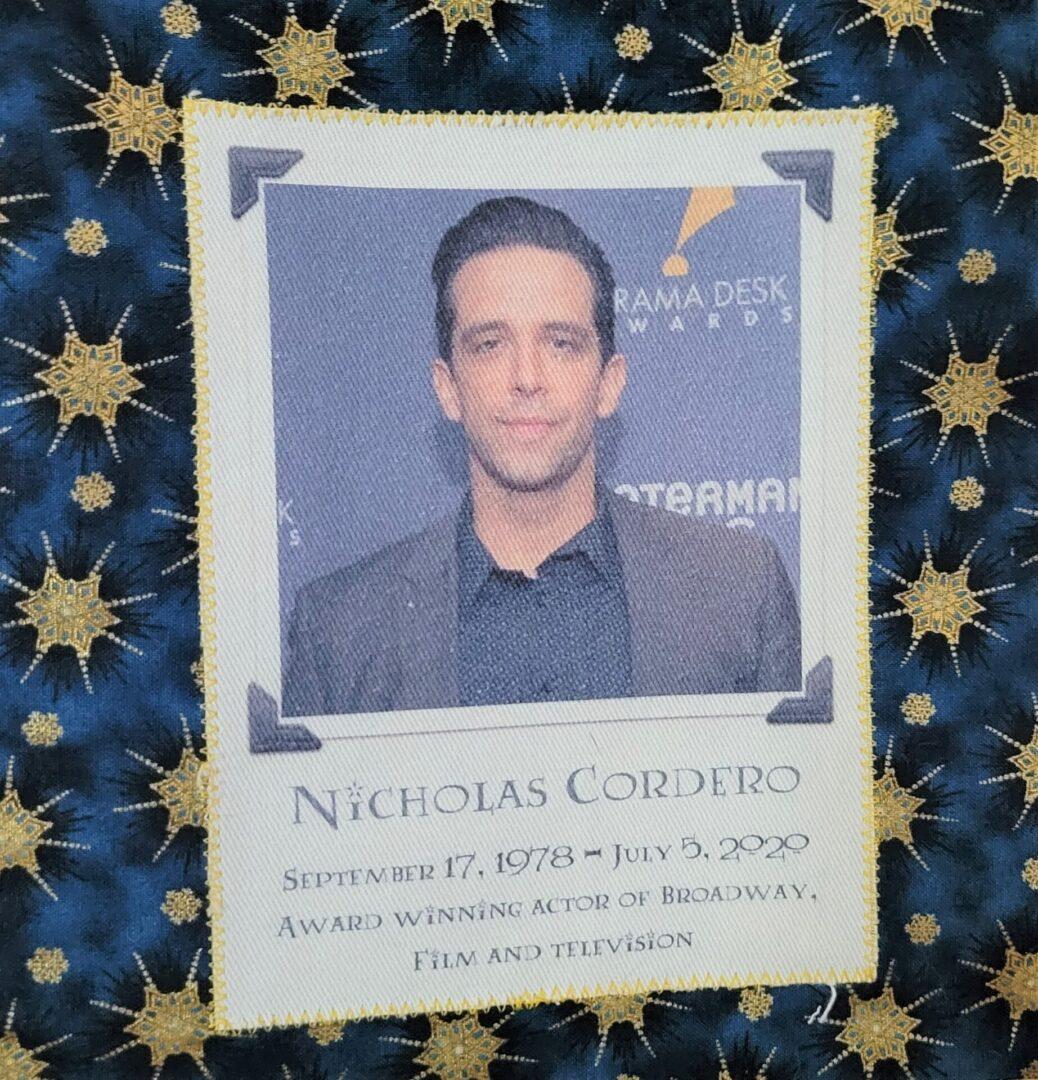 IN MEMORY OF NICHOLAS CORDERO -SEPTEMBER 17, 1978 - JULY 5, 2020