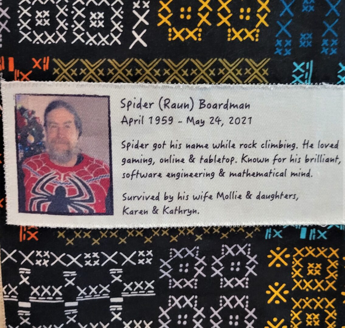 IN MEMORY OF SPIDER