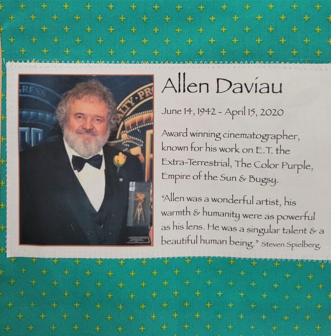 IN MEMORY OF ALLEN DAVIAU - JUNE 14, 1942 - APRIL 15, 2020