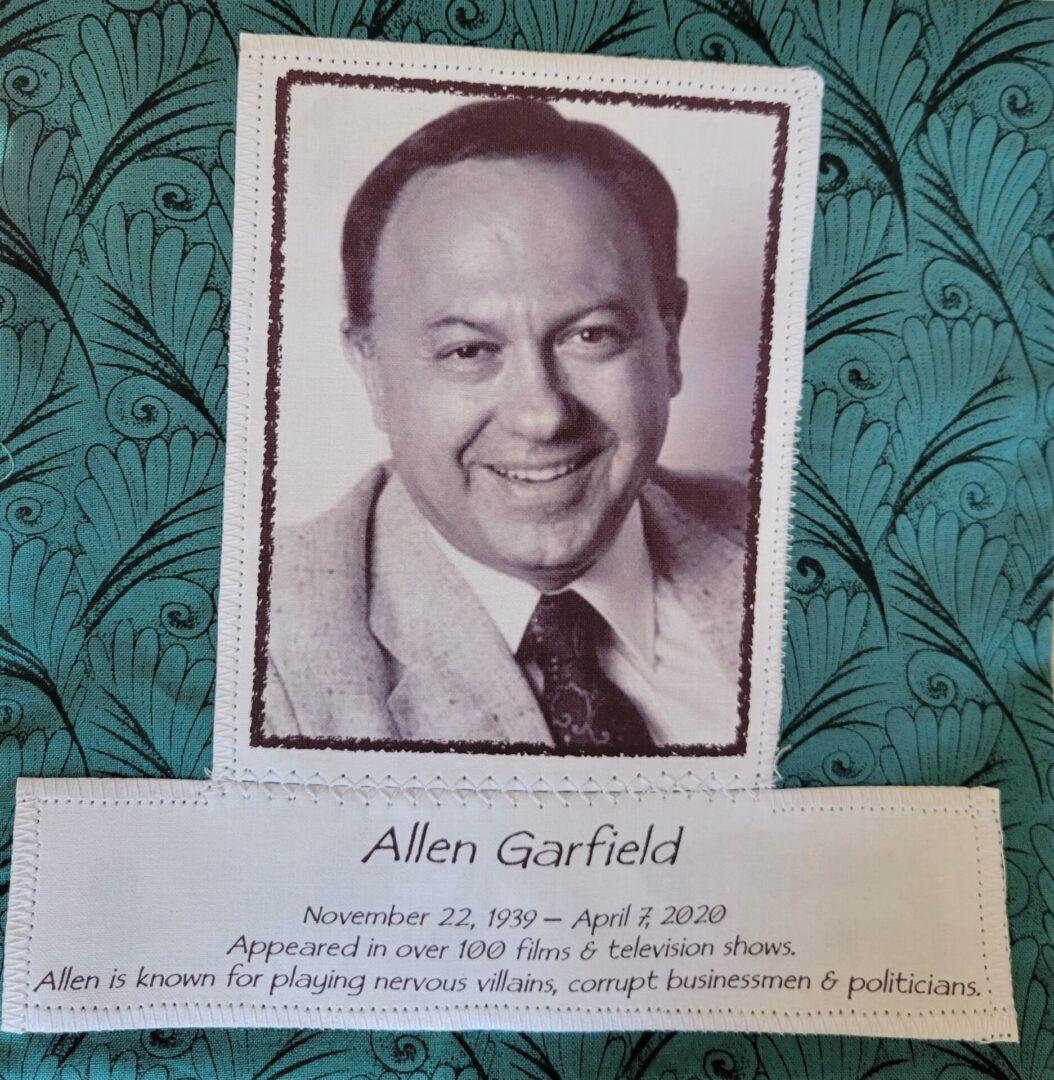 IN MEMORY OF ALLEN GARFIELD - NOV 22, 1939 - APRIL 7, 2020