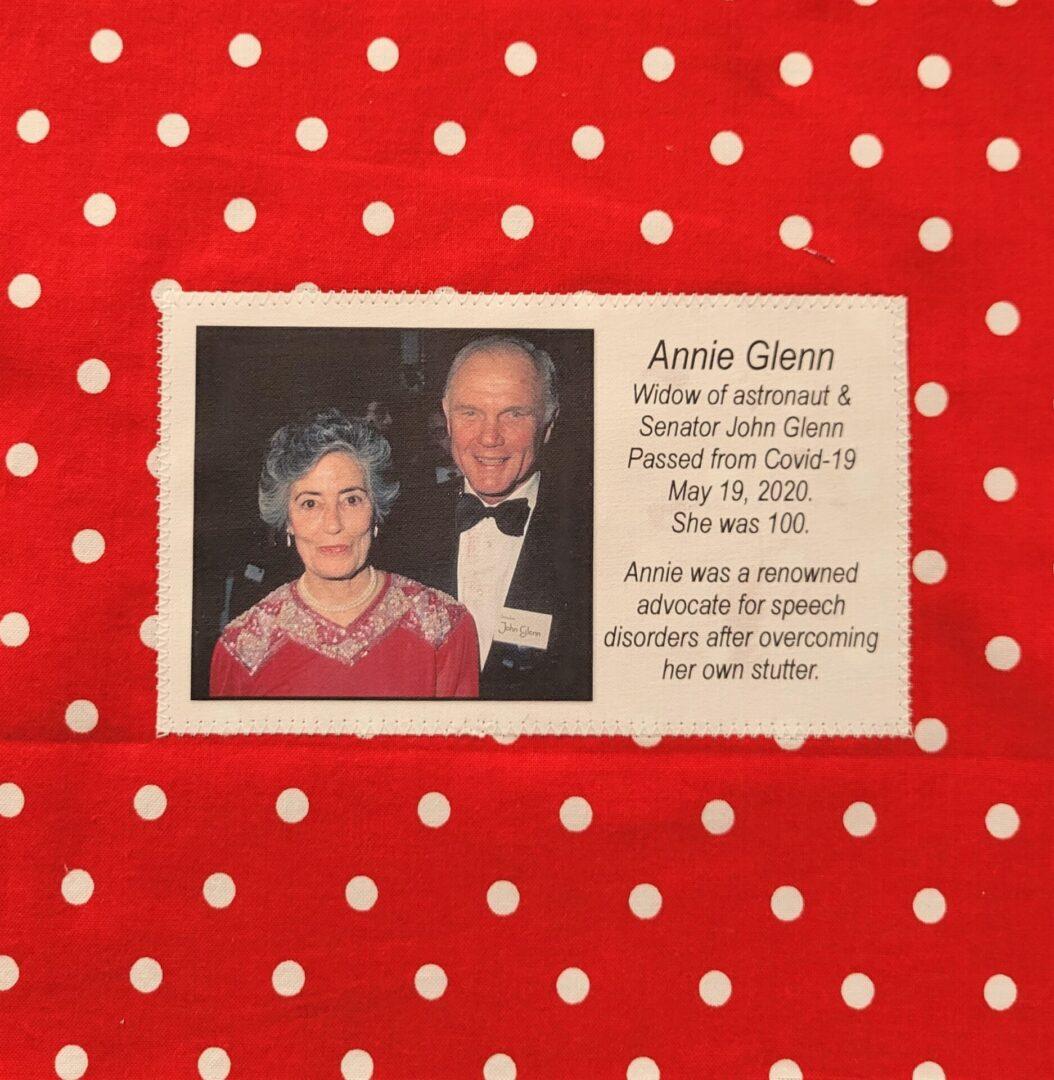 IN MEMORY OF ANNIE GLENN - FEB. 17, 1920 - MAY 19, 2020