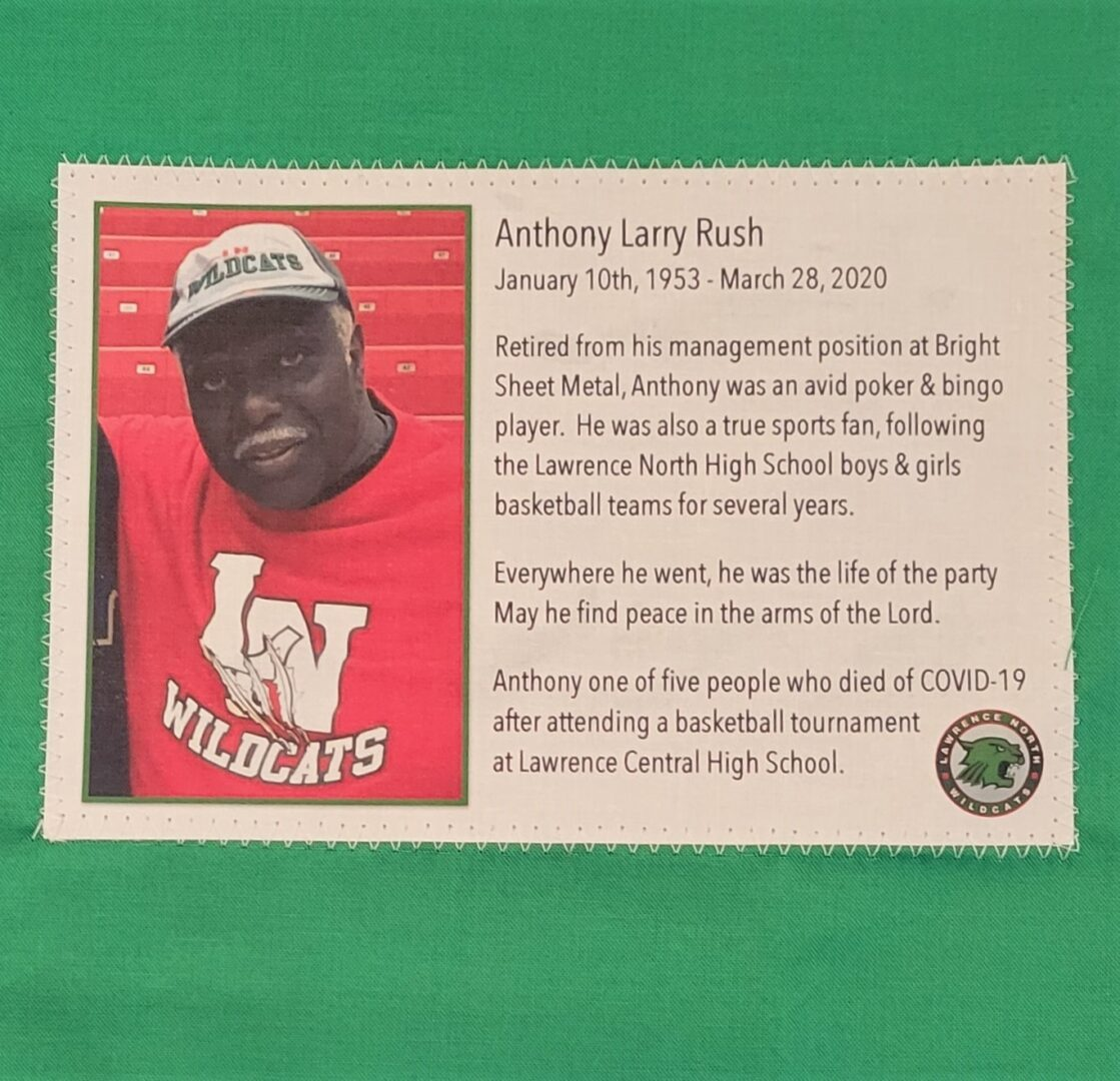 IN MEMORY OF ANTHONY LARRY RUSH - JANUARY 10, 1953 - MARCH 28, 2020