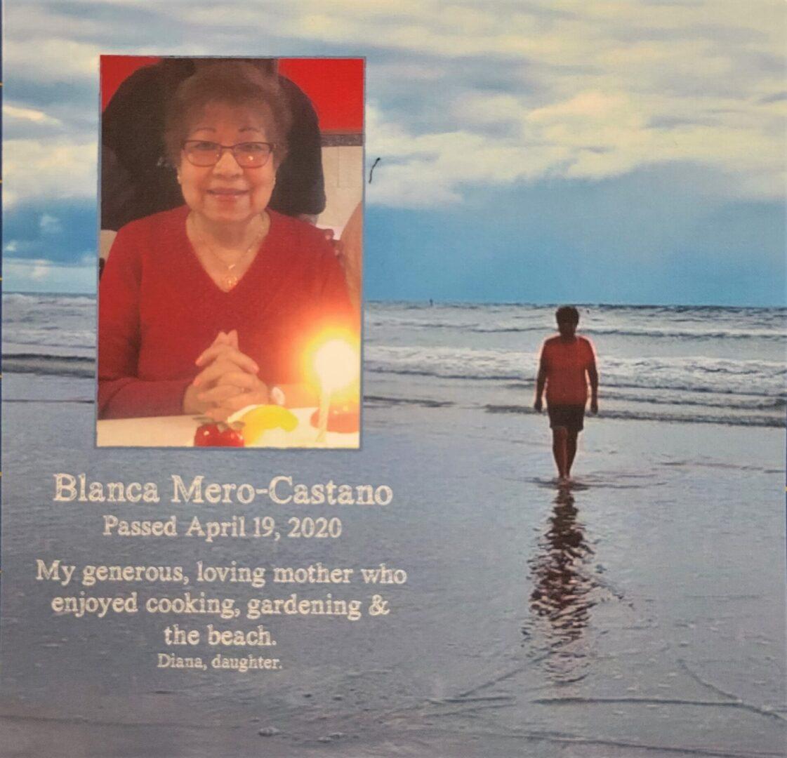 IN MEMORY OF BLANCA MERO-CASTANO - DIED APRIL 19, 2020