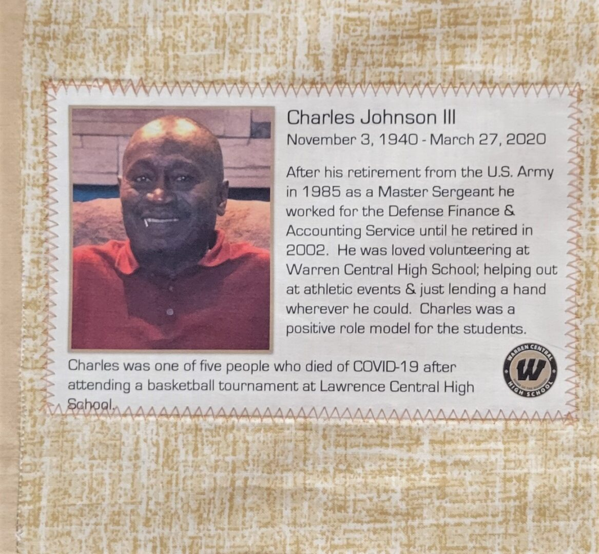 IN MEMORY OF CHARLES JOHNSON III - NOVEMBER 3, 1940 - MARCH 27, 2020