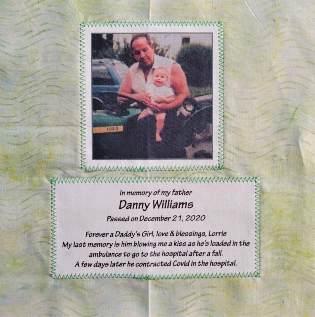 IN MEMORY OF DANNY WILLIAMS - DECEMBER 21, 2020