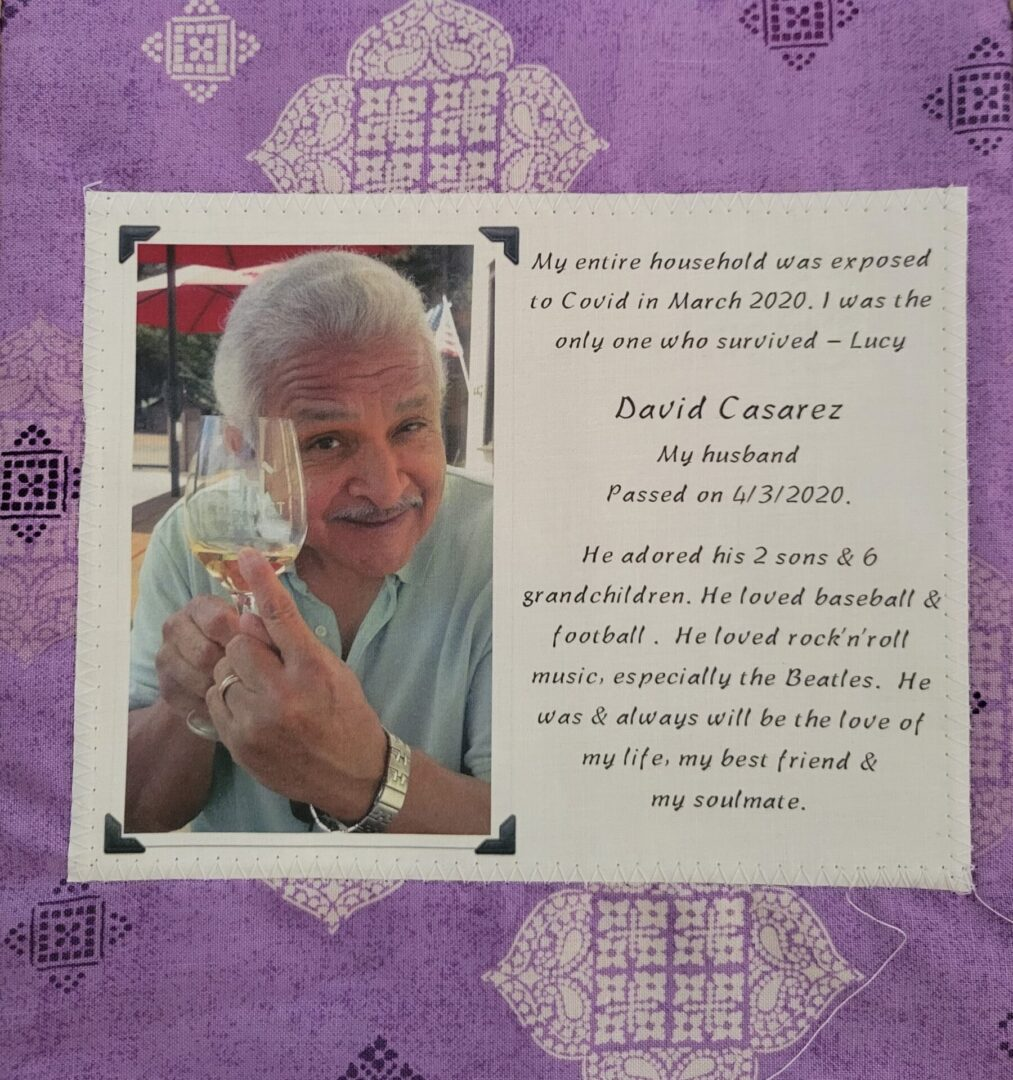 IN MEMORY OF DAVID CASAREZ - 4/3/2020