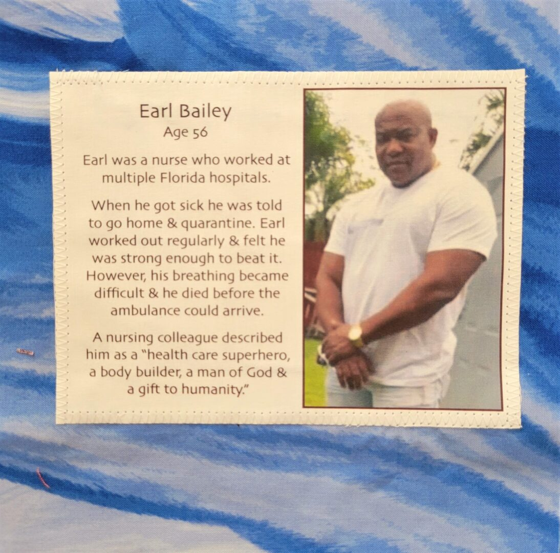 IN MEMORY OF EARL BAILEY - APRIL 5, 2020