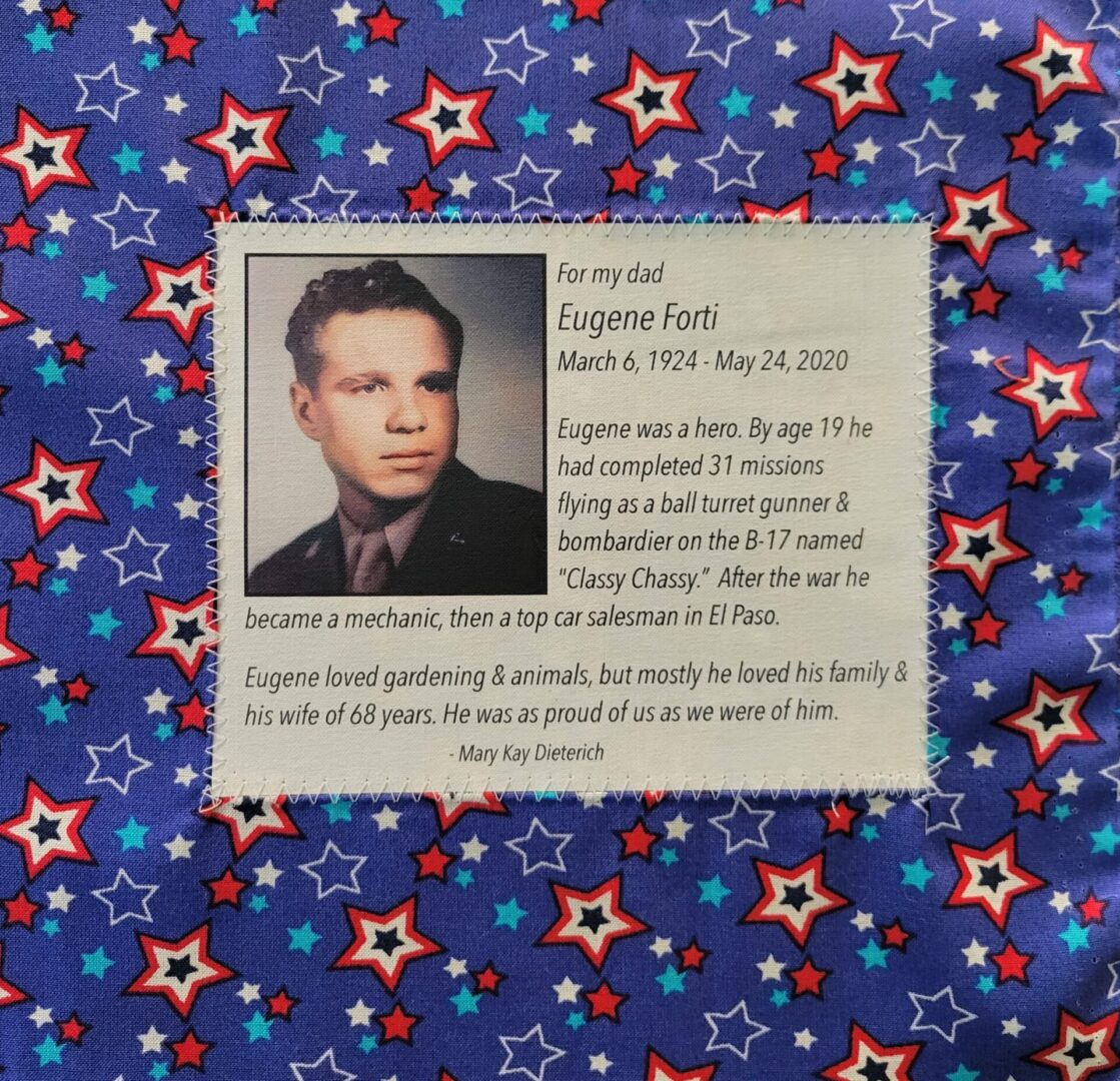 IN MEMORY OF EUGENE FORTI - MARCH 6, 1924 - MAY 24, 2020
