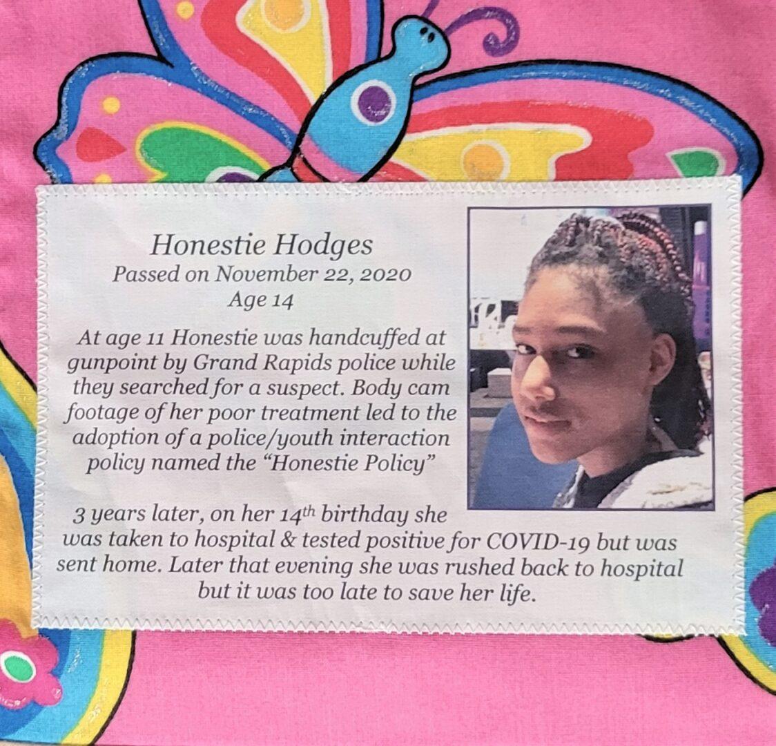 IN MEMORY OF HONESTIE HODGES - NOVEMBER 22, 2020, age 14