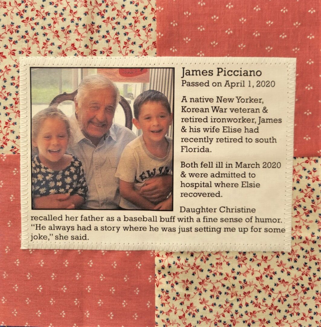 IN MEMORY OF JAMES PICCIANO - JULY 15, 1931 - APRIL 01, 2020