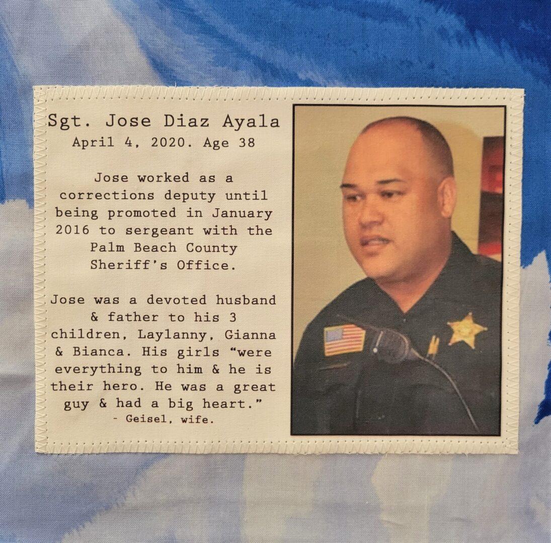 IN MEMORY OF SGT. JOSE DIAZ AYALA - APRIL 4, 2020