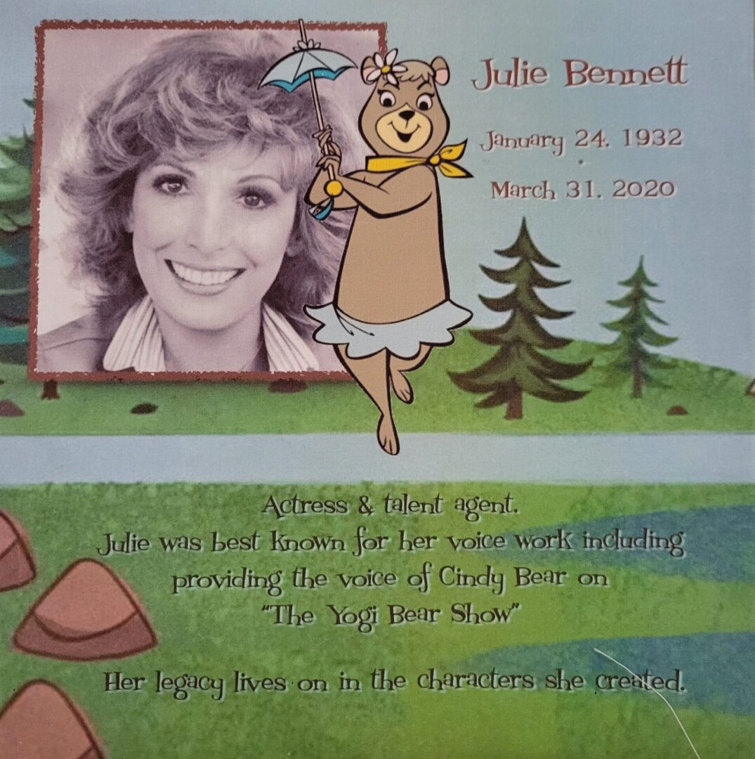 IN MEMORY OF JULIE BENNETT - JANUARY 24, 1932 - MARCH 31, 2020