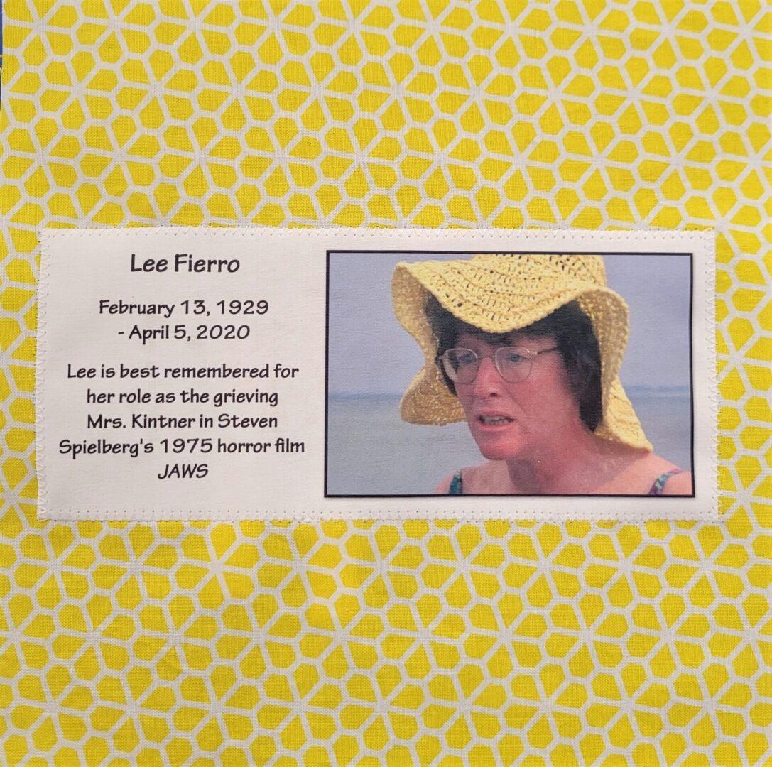 IN MEMORY OF LEE FIERRO - FEBRUARY 13, 1929 - APRIL 5, 2020