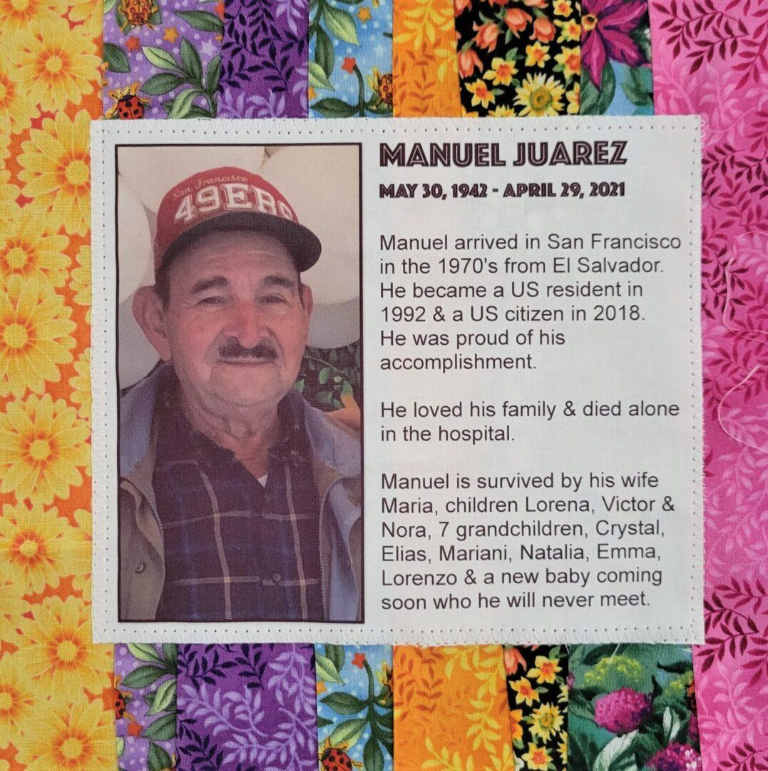 IN MEMORY OF MANUEL JUAREZ - 5/30/1942 - 4/29/2021