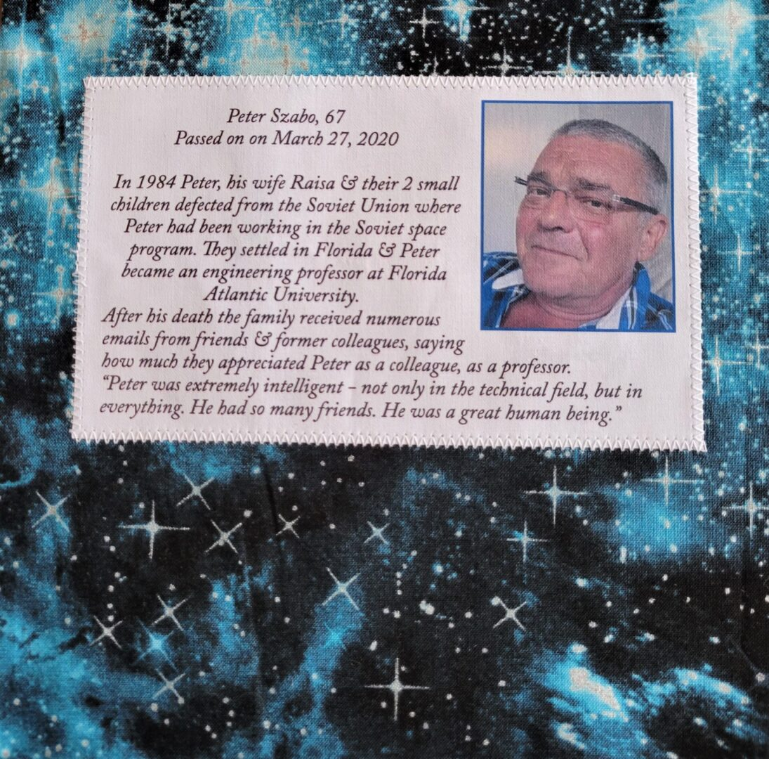IN MEMORY OF PETER SZABO - MARCH 27, 2020