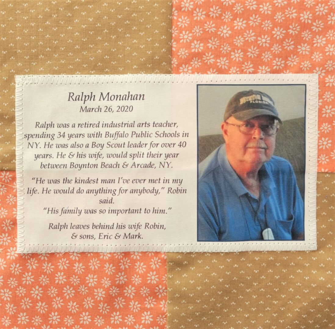IN MEMORY OF RALPH MONAHAN - MARCH 26, 2020