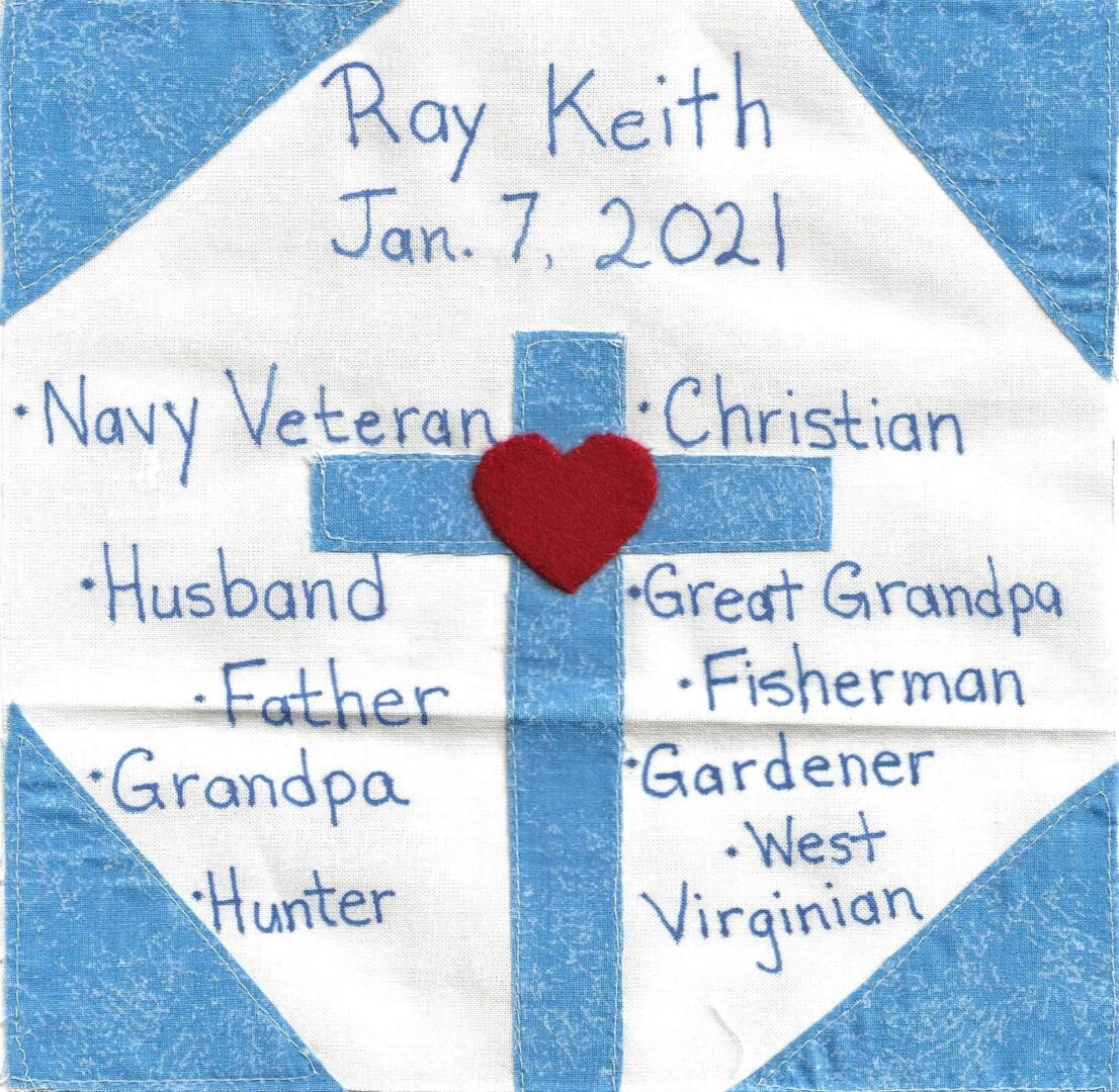 IN MEMORY OF RAY KEITH - JAN 7, 2021