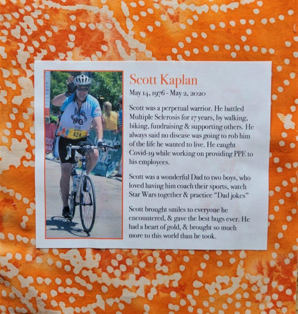 IN MEMORY OF SCOTT KAPLAN - 5/14/76 - 5/2/20