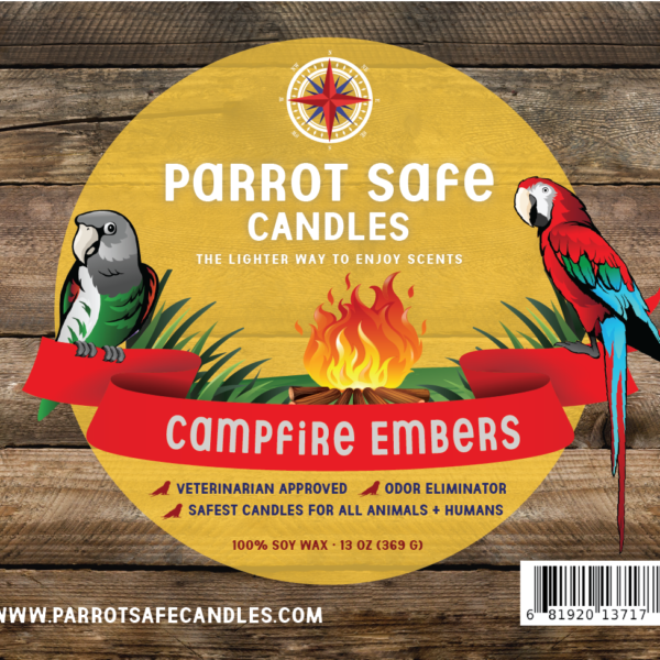 Camp Fire Embers Candle - World's Safest Candles - Parrot Safe Candles