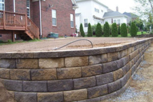 retaining wall built by GC Services