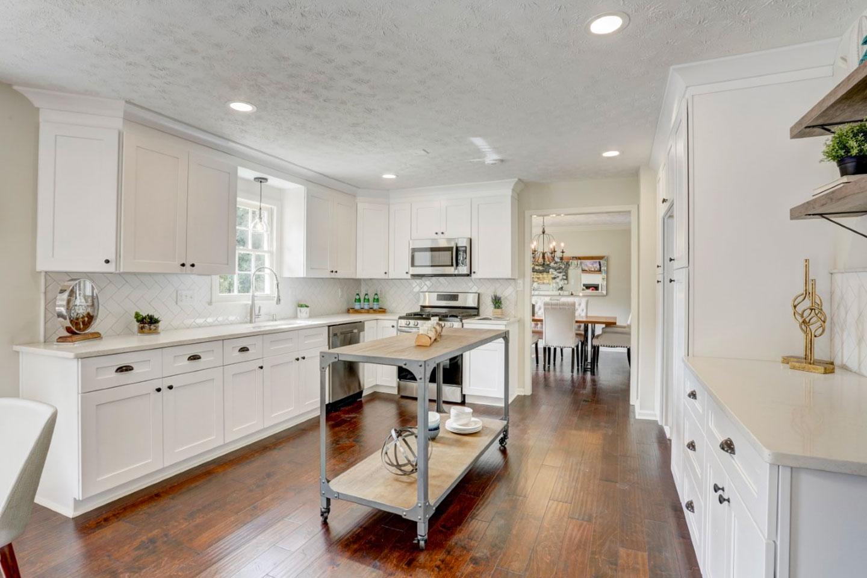 wood floor in new kitchen