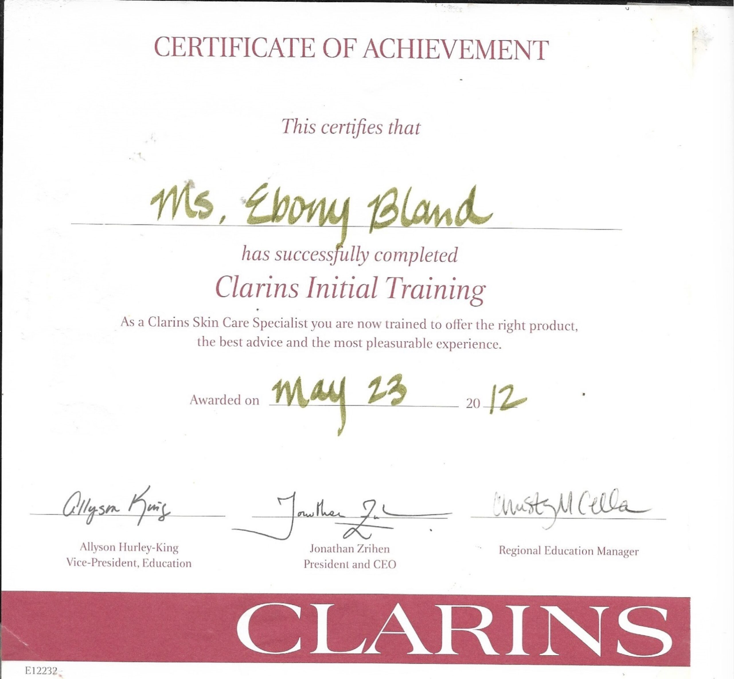 Clarins Skin care Achievement