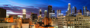 Southern California Business Financial District of Downtown Los Angeles