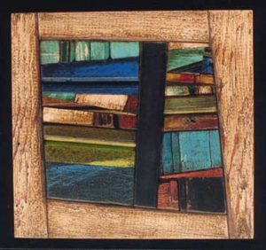 Salvaged Recycled Assembled Wood Art Laird Campbell