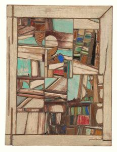 Salvaged Recycled Wood Art Assemblage Laird Campbell