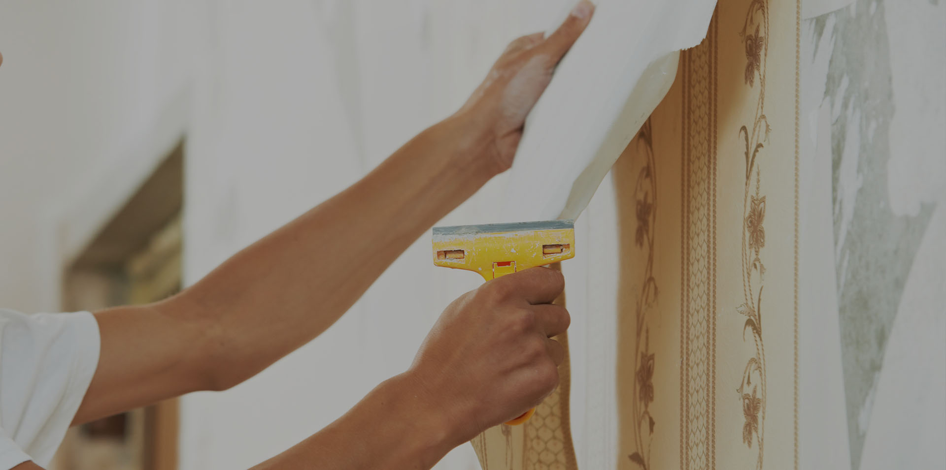 Wallpaper Removal Process