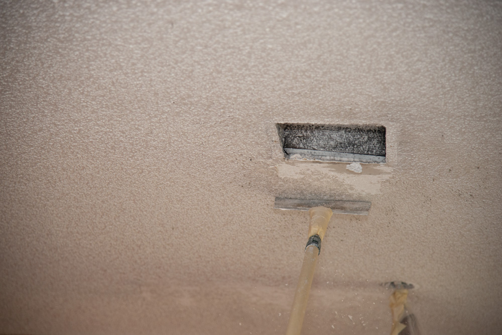 Dirty Ceiling Removal Process