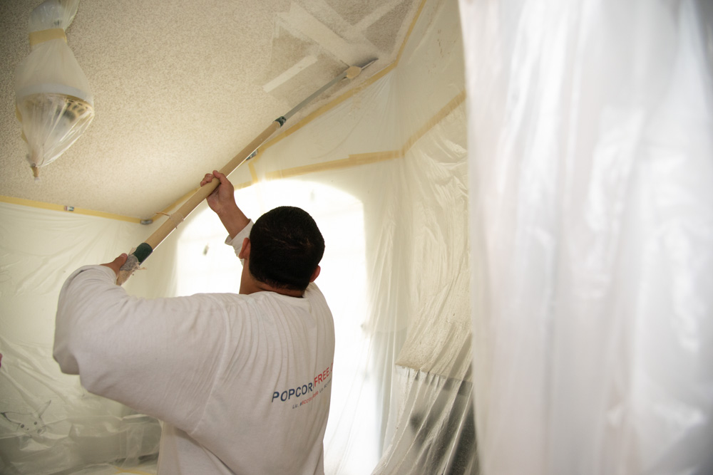 Removal of Ceiling Popcorn