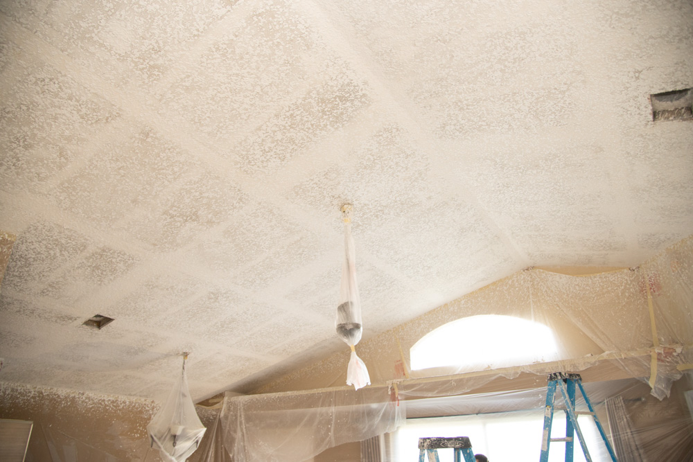 Knockdown Texture Vaulted Ceiling