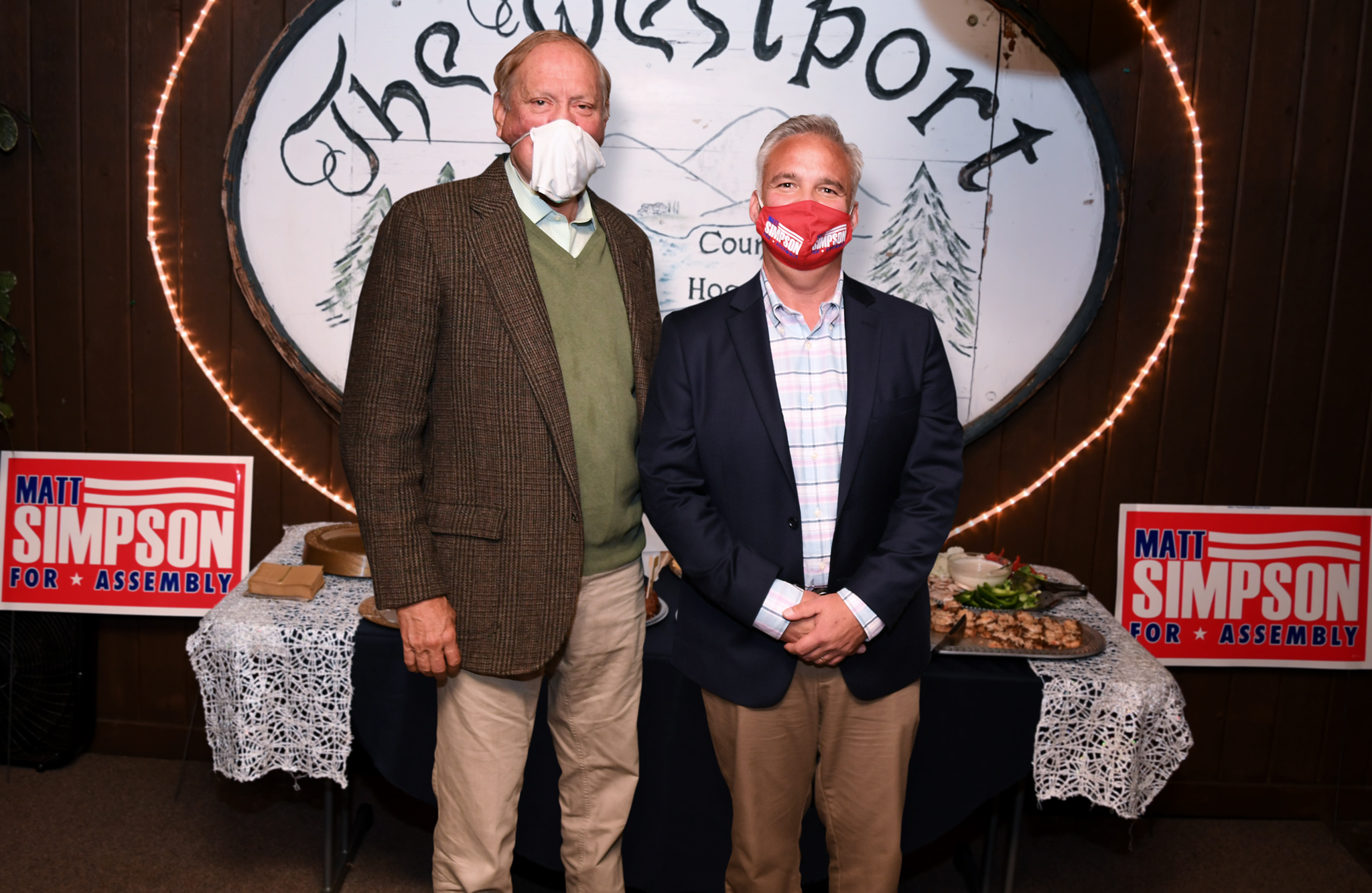Governor George Pataki and Matt Simpson