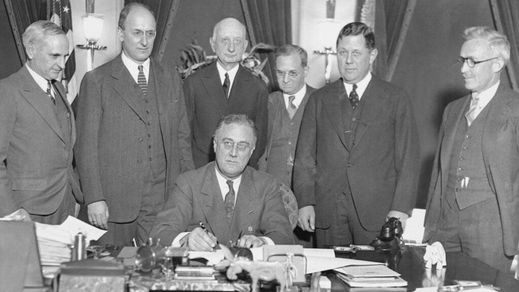 FDR Signing the Gold Bill