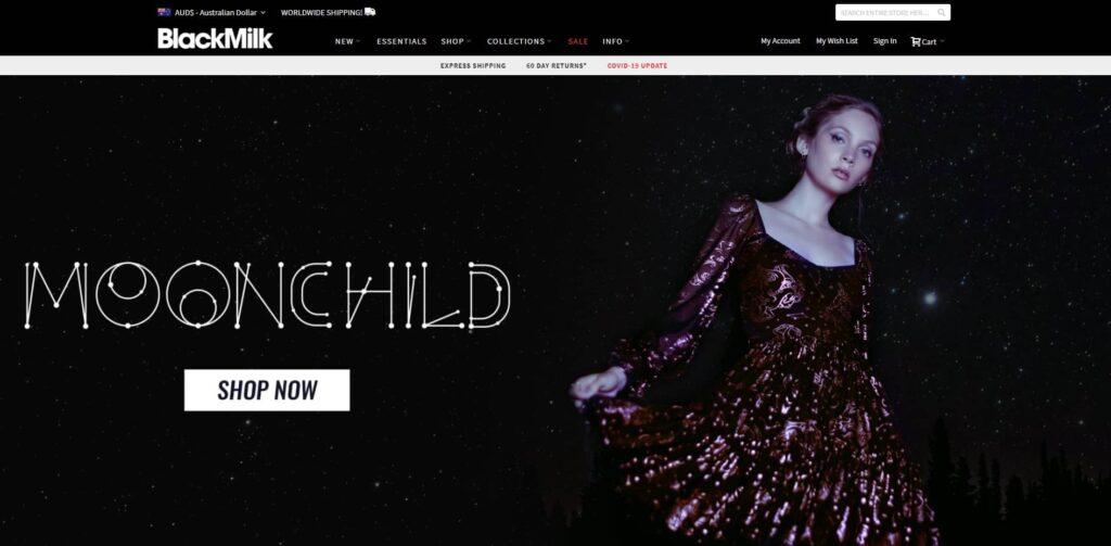 Black Milk Clothing Website