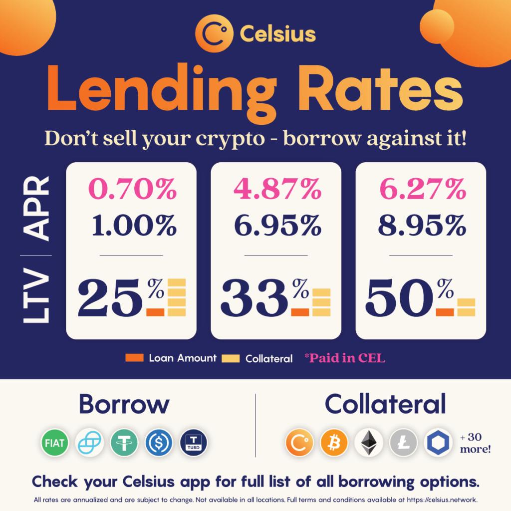 Celsius Lending Rates