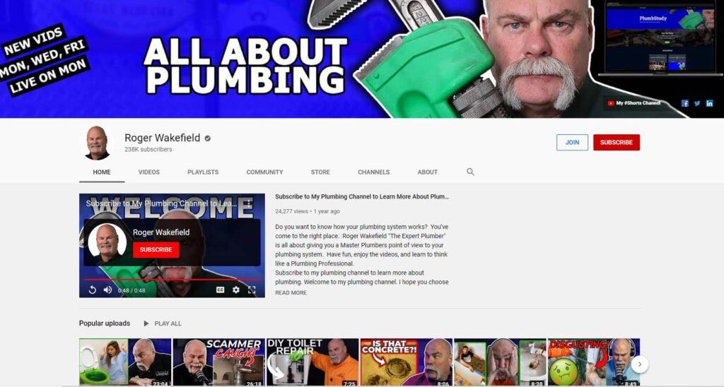 Roger Wakefield Youtube channel