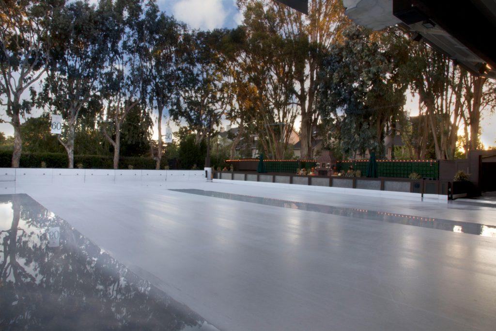 winter lodge outdoor rink
