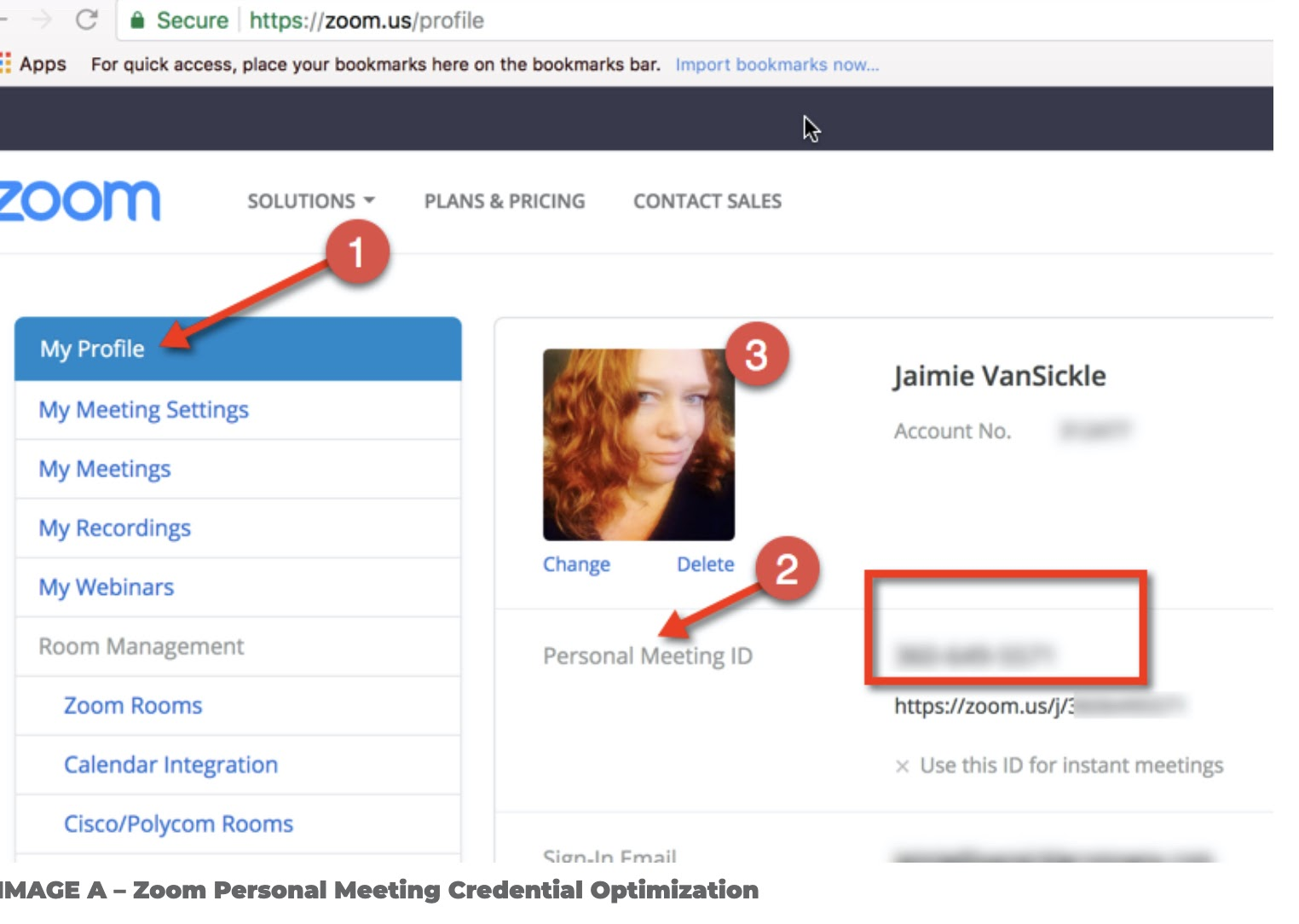 Set your zoom personal meeting ID