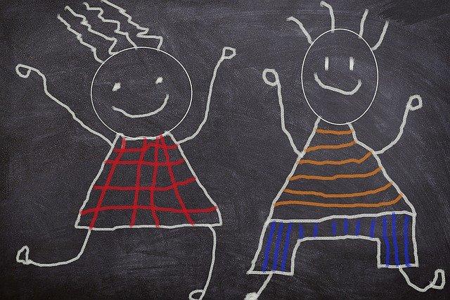 drawing on chalkboard