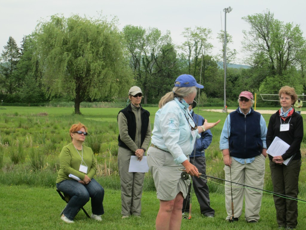 Motivated anglers learning how to get their Casting Certification