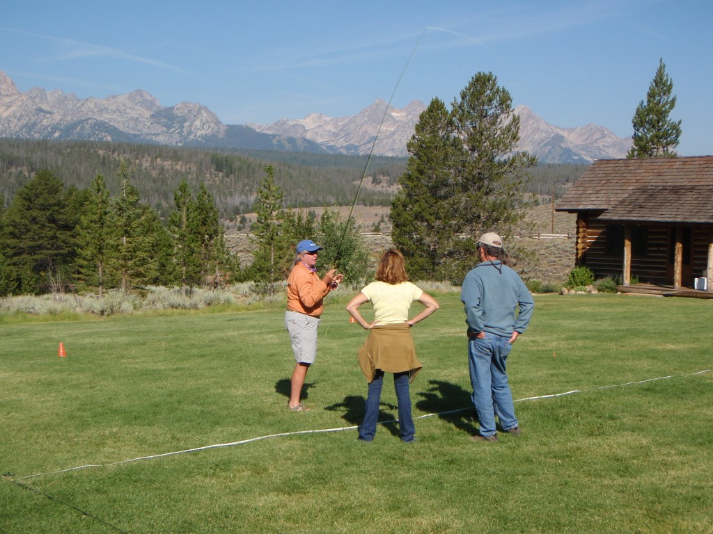 Can you imagine a better backdrop to learn how to fly cast from!