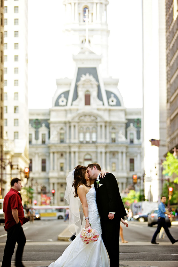 wedding city hall Philadelphia photo op trolley rental flowers people bride groom bus Victorian summer