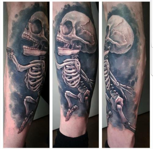Scott Ford Tattoos - Fetus skeleton full