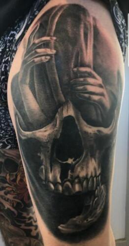 Scott Ford Tattoos - black and grey tattoo
