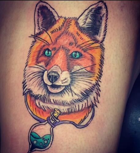 Kimberly Brumble Tattoos - fox tattoo