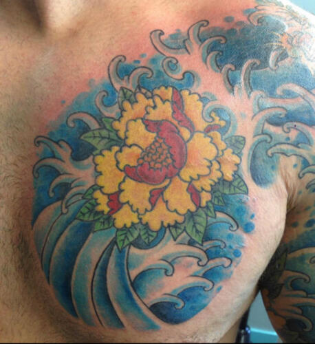 Mike Peace Tattoos - lotus